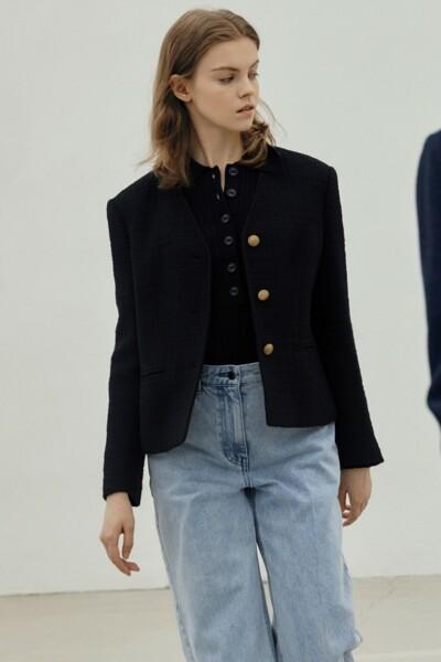 [소소 착용] Classy Jacket BLACK (JYJA1D920BK)