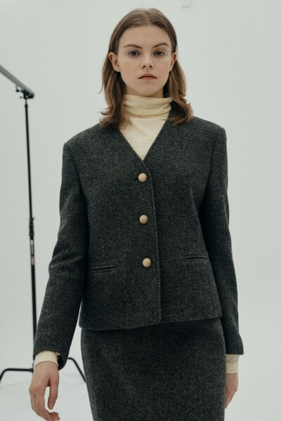 Classy Jacket BROWN (JYJA1D920S3)