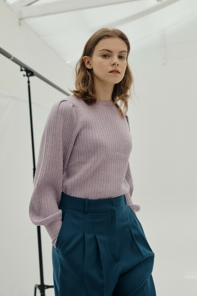 Puff Sleeve Pullover LAVENDER (JYSW1D920V1)