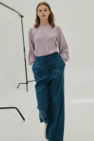 Wide-leg Trousers GREYISH BLUE (JYPA1D900B3)