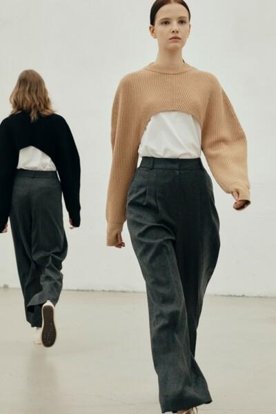 [소소 착용] Wide-leg Trousers CHARCOAL (JYPA1D900G3)