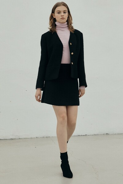 A-line Mini Skirt BLACK (JYSK1D900BK)