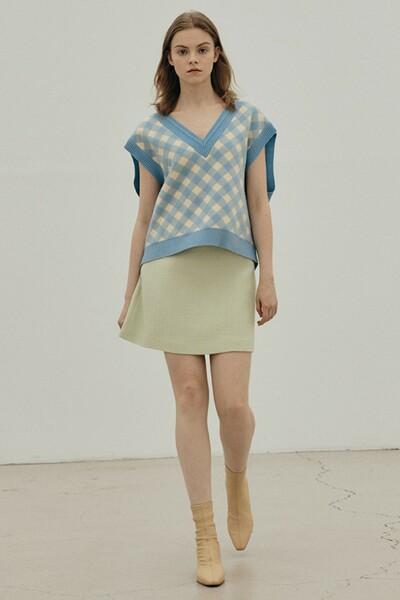 A-line Mini Skirt APPLE GREEN (JYSK1D900L1)
