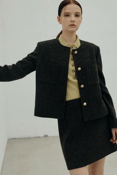 A-line Mini Skirt DARK BROWN (JYSK1D900W1)