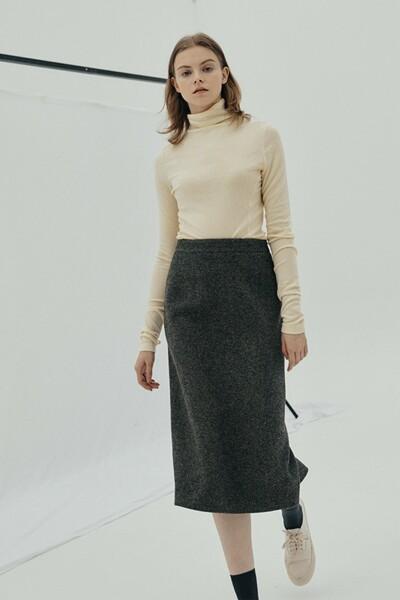 H-line Midi Skirt BROWN (JYSK1D901S3)