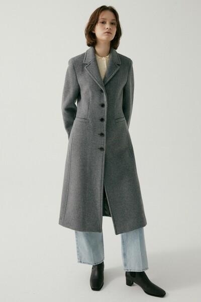 Cashmere A-line Single Coat MELANGE GREY (JYCO1D905G2)