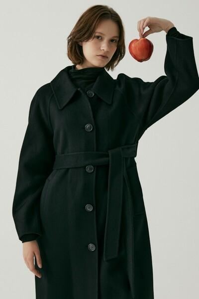 Cashmere Handmade Mac Coat BLACK (JYCO1D901BK)