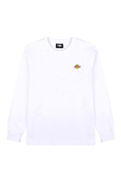 팀로고 루즈핏 롱 티셔츠_N211TS102P