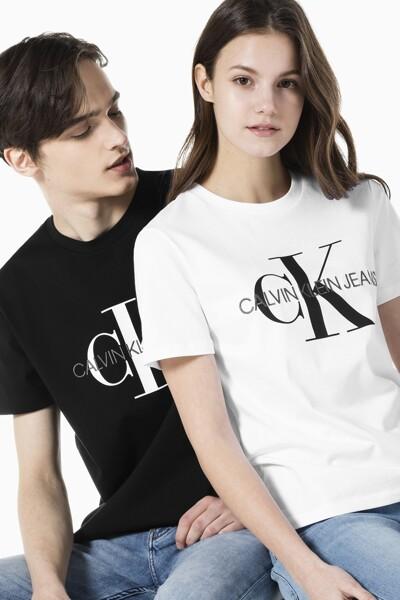 여성 스트레이트핏 모노그램 로고 반팔 티셔츠 J216394-YAF J216394YAF