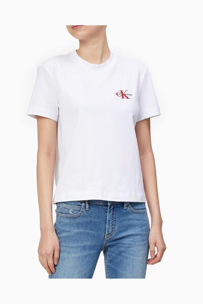 여성 모노그램 자수 로고 반팔 티셔츠 J216166-YAF J216166YAF