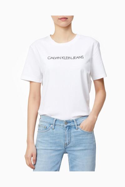 여성 스트레이트 핏 스몰 로고 반팔 티셔츠 J216370-YAF J216370YAF