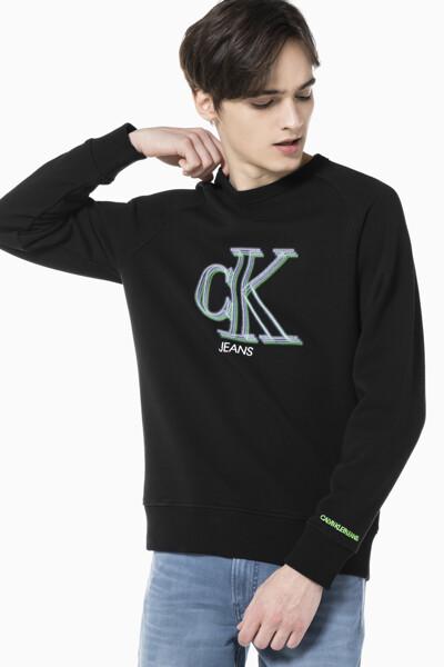 남성 일루미네이트 CK 로고 스웨트셔츠 J317051-BEH J317051BEH