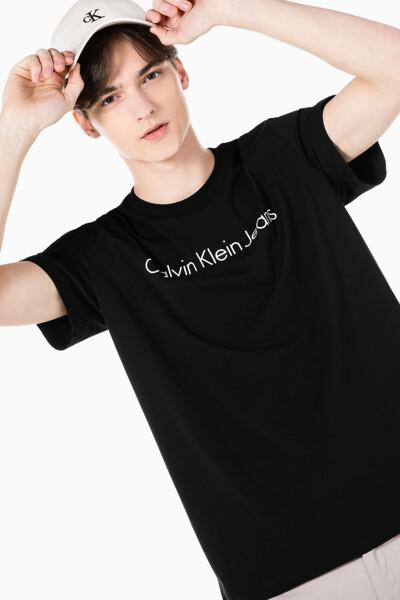 남성 인스티튜셔널 젤 로고 프린트 반팔 티셔츠 J317456-BEH J317456BEH