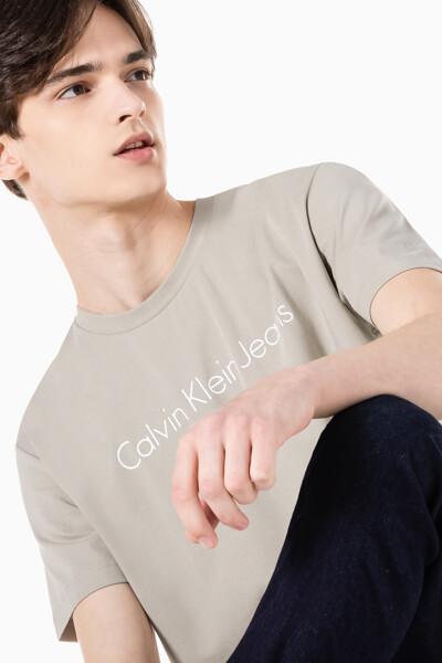 남성 인스티튜셔널 젤 로고 프린트 반팔 티셔츠 J317456-PED J317456PED