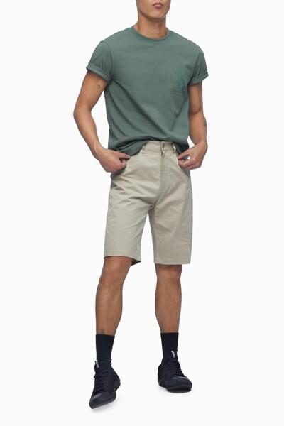 남성 릴렉스핏 CK 플로킹 로고 반팔 티셔츠 J317357-LDT J317357LDT
