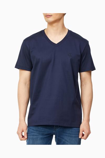 남성 슬림핏 브이넥 반팔 티셔츠 J318047-CHW J318047CHW