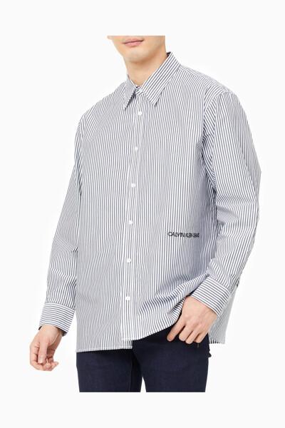 남성 릴렉스핏 코튼 스트레치 스트라이프 셔츠 J317420-BEH J317420BEH