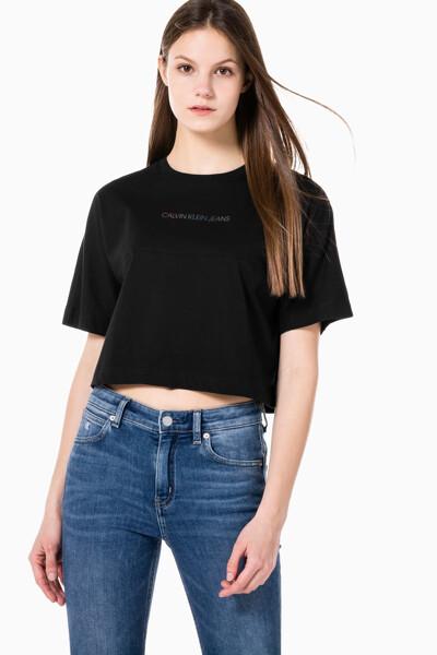 여성 백 리플렉티브 로고 티셔츠 J215313-BEH J215313BEH