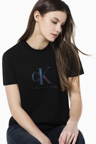 여성 이리데슨트 모던 스트레이트 핏 반팔 티셔츠 J215542-BEH J215542BEH