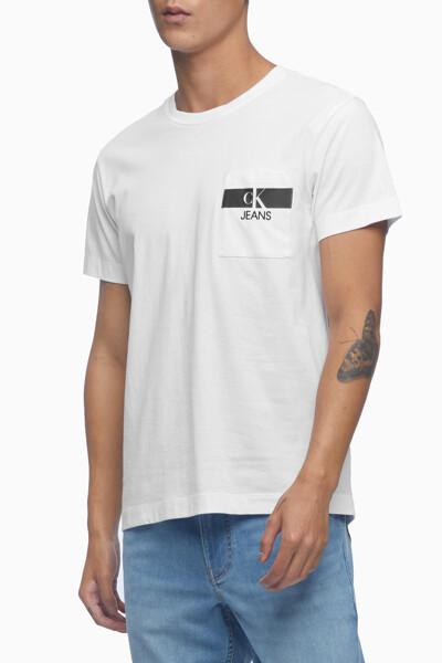 남성 레귤러핏 CK 포켓 반팔 티셔츠 J317671-YAF J317671YAF