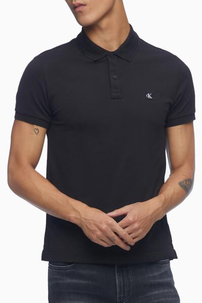 남성 슬림핏 CK 뱃지 폴로 반팔 티셔츠 J318044-BEH J318044BEH