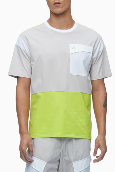 남성 컬러블록 포켓 티셔츠 4MS1K253-082 4MS1K253082