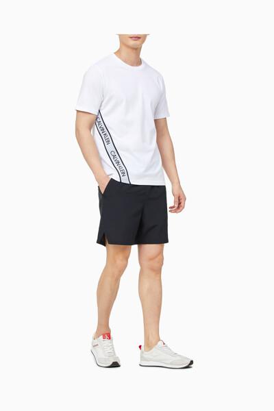 남성 액티브 아이콘 투톤 엘라스틱밴드 티셔츠 4MS1K263-100 4MS1K263100