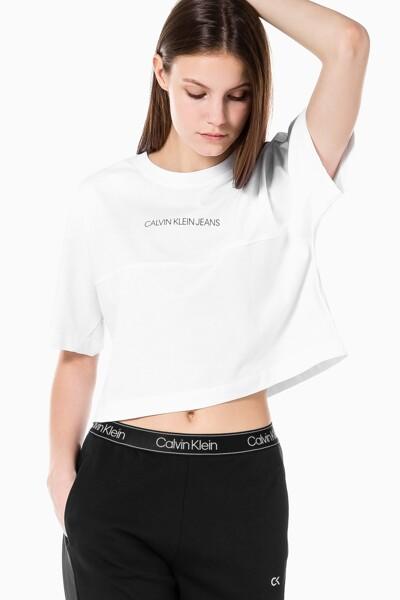 여성 백 리플렉티브 로고 티셔츠 J215313-YAF J215313YAF