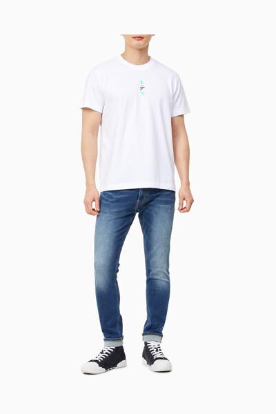 남성 CK 리피트 텍스트 그래픽 티셔츠 J318304-YAF J318304YAF