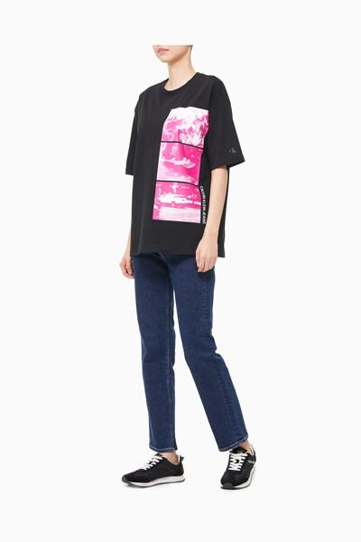 여성 A-SS 백 그래픽 스트레이트 티셔츠 J215987-BEH J215987BEH