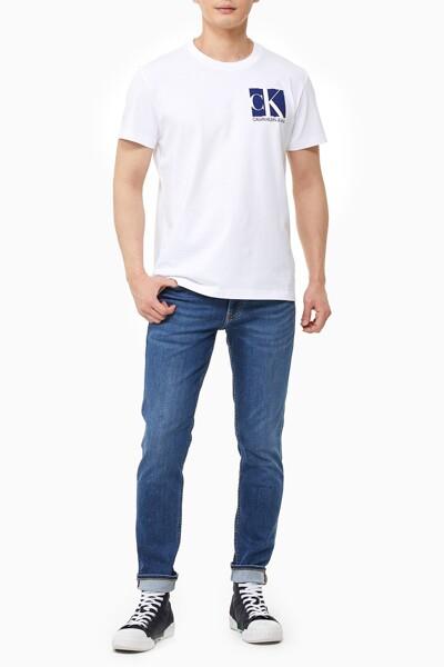 남성 그래픽 클린 반팔 티셔츠 J318116-YAF J318116YAF