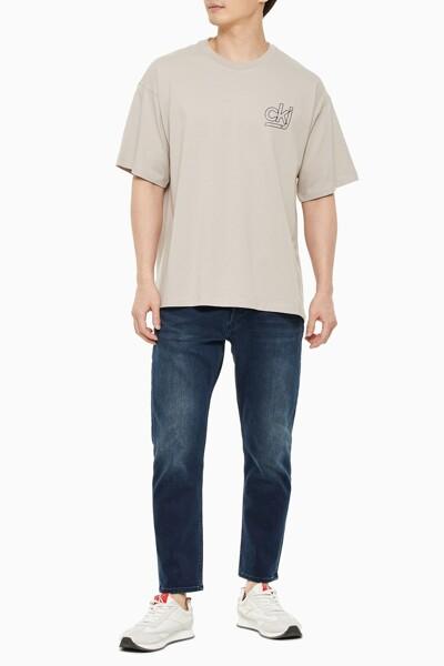 남성 오버사이즈 백 그래픽 스케이트 티셔츠 J318311-PFT J318311PFT