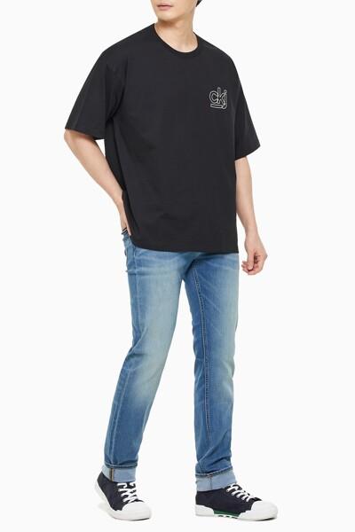 남성 오버사이즈 백 그래픽 스케이트 티셔츠 J318311-BEH J318311BEH