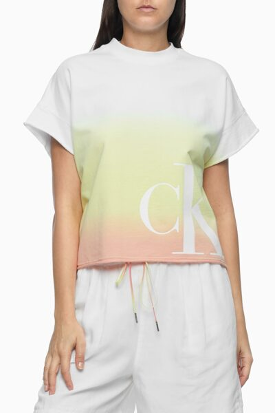 여성 옴브레 그래픽 로고 크루넥 티셔츠 J215991-ZIR J215991ZIR