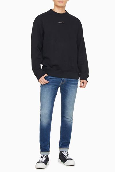 남성 마이크로 브랜딩 에센셜 크루넥 스웨트셔츠 J318507-BEH J318507BEH