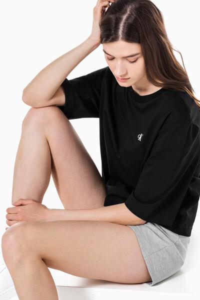 여성 CK 스몰 로고 2Pack 반팔 티셔츠 J217534-BEH J217534BEH