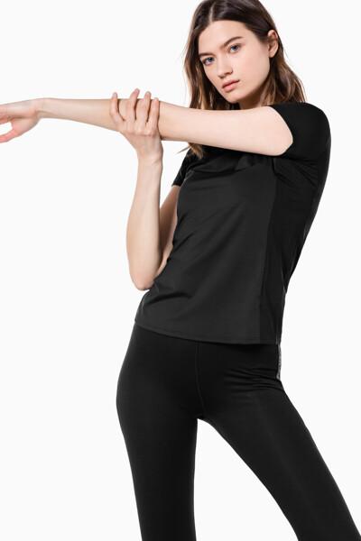 여성 액티브 아이콘 메쉬 백 티셔츠 4WS1K137-007 4WS1K137007