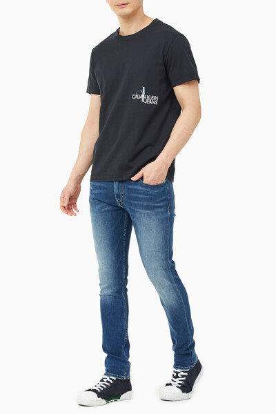 남성 CK 모노그램 클리어 프린트 티셔츠 J317507-BEH J317507BEH