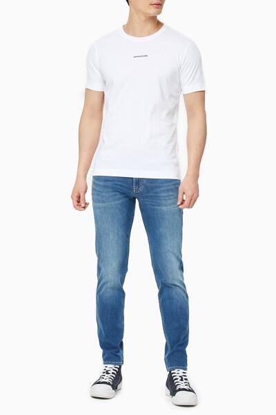남성 마이크로 브랜딩 에센셜 반팔 티셔츠 J319540-YAF J319540YAF