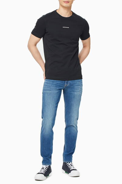 남성 마이크로 브랜딩 에센셜 반팔 티셔츠 J319540-BEH J319540BEH