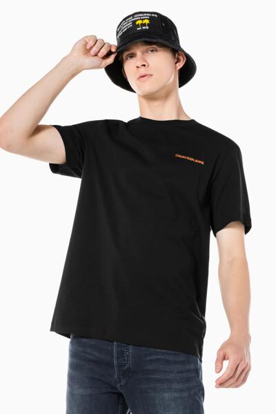 남성 릴렉스핏 팜 트리 그래픽 반팔 티셔츠 J319564-BEH J319564BEH