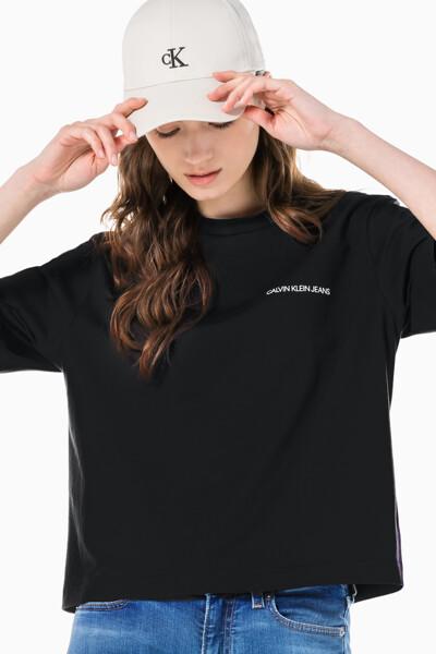 여성 팜 트리 그래픽 반팔 티셔츠 J217533-BEH J217533BEH
