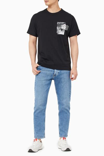 남성 팜 백 그래픽 반팔 티셔츠 J318481-BEH J318481BEH