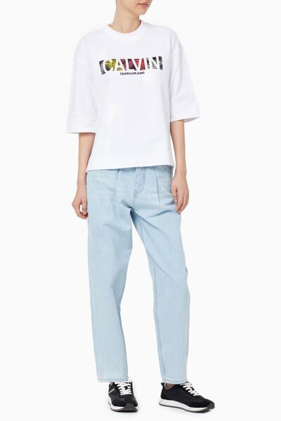 여성 팜 릴렉스핏 크루넥 반팔 티셔츠 J216398-YAF J216398YAF