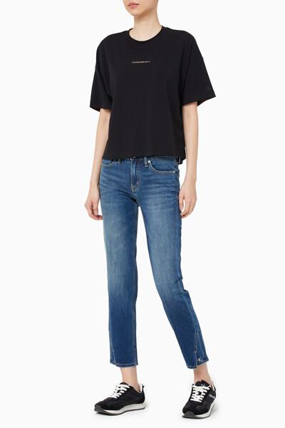 여성 디그라데이션 백 로고 티셔츠 J216532-BEH J216532BEH