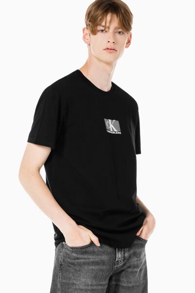 남성 CK 스몰 박스 로고 레귤러핏 반팔 티셔츠 J318201-BEH J318201BEH
