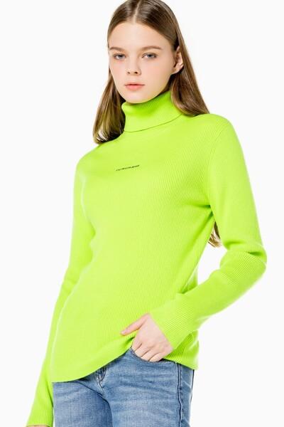여성 마이크로 브랜딩 롤넥 스웨터 J216606-LAG J216606LAG