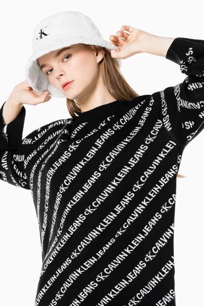 여성 올오버 로고 크루넥 스웨터 J217584-0GK J2175840GK