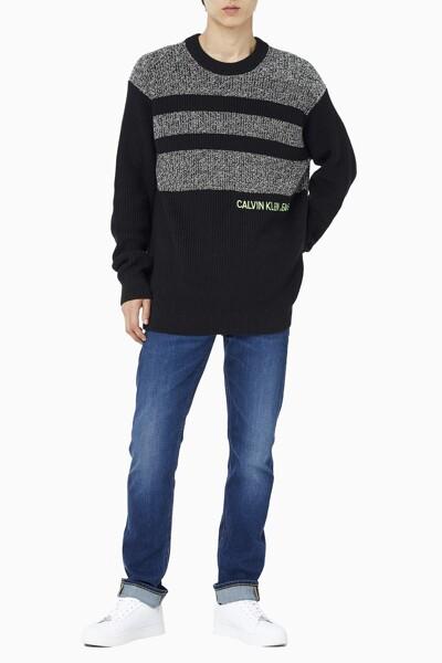 남성 릴렉스핏 헤더 블로킹 스웨터 J318613-BEH J318613BEH
