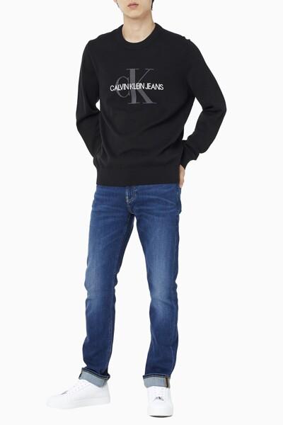 남성 레귤러핏 모노그램 로고 코튼 스웨터 J319386-BEH J319386BEH